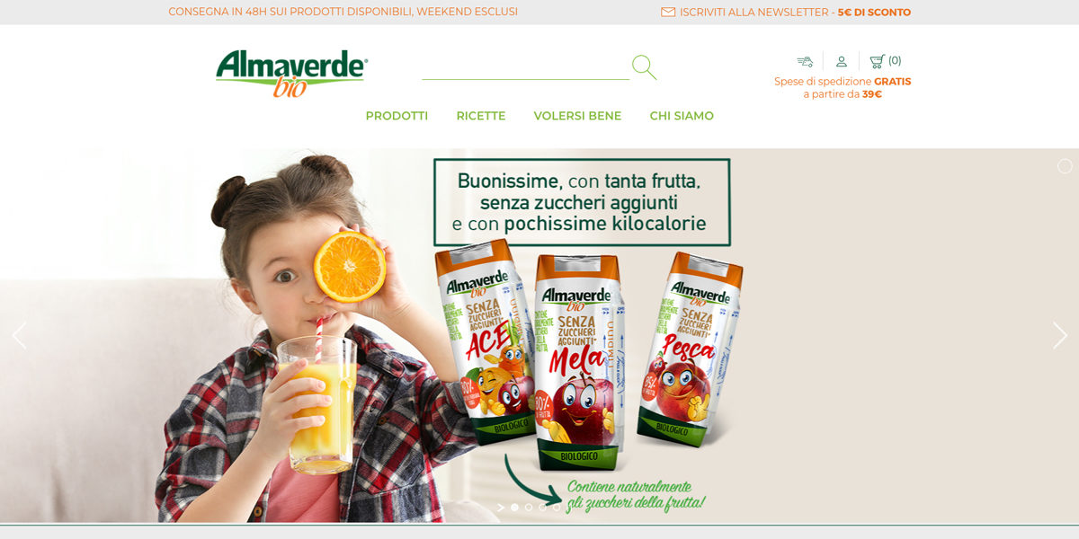 Almaverde Bio Apre Il Portale Di E-commerce Per Tutti I Prodotti Ambient